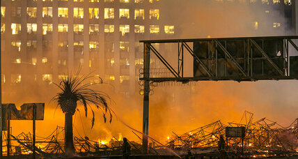 Man charged with arson in huge Los Angeles apartment building fire