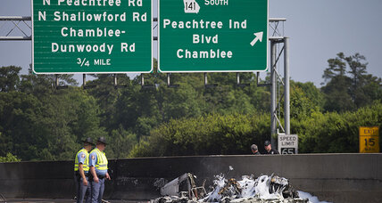Four dead after small plane crashes on Atlanta-area interstate
