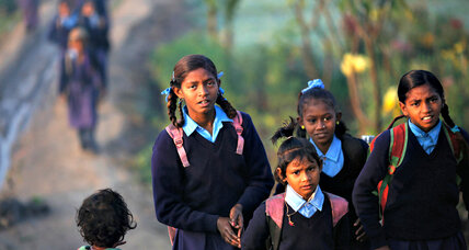 Boys persuade girls to go back to school in India