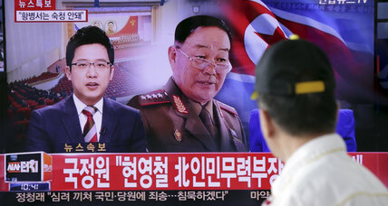 North Korea publicly executes defense minister, says S. Korean intelligence