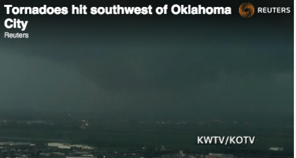Major twister touches down near Oklahoma City (+video)