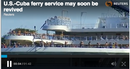 Ferry service between US and Cuba to resume (+video)