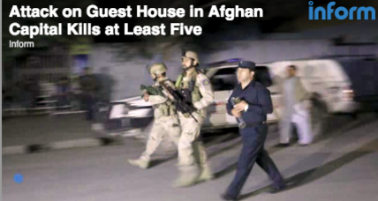 Attack on Afghan guest house leaves 14 dead (+video)