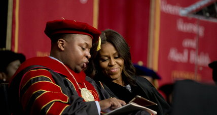 What did Michelle Obama say to Tuskegee University graduates?