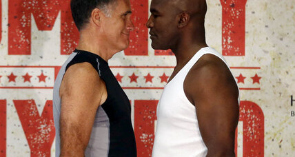 Mitt Romney vs. Evander Holyfield in the boxing ring. Really.