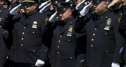 Thousands attend funeral for NYPD officer
