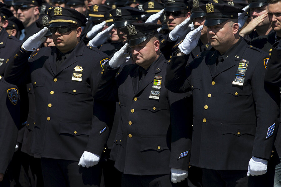Thousands attend funeral for NYPD officer - CSMonitor com