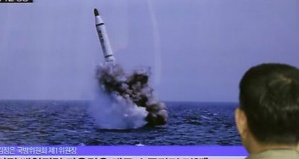 North Korea fires ballistic missile from submarine. Prelude to talks?