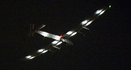 Solar plane makes unexpected landing in Japan