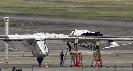 Solar plane stuck in Japan until weather improves