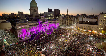 Hundreds of thousands protest violence against women in S. America