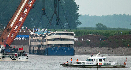 China cruise ship righted in search for more victims