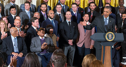 World Series champion San Francisco Giants visit White House for third time
