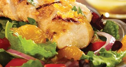 Grilled orange ginger chicken salad