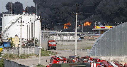 Ukraine fuel depot blaze under control, 1 person killed, three firemen missing