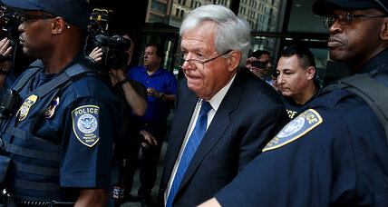 Former Speaker Hastert pleads not guilty in first court appearance