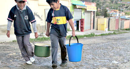 School in Bolivia cleans up using pedal-powered soap