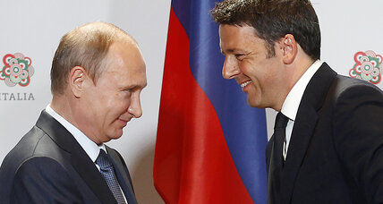 In Italy, Putin hears warm words – and chalks up a win