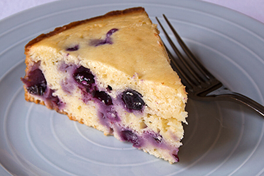 greek yogurt cake blueberry lime yogurt cake csmonitor 4606