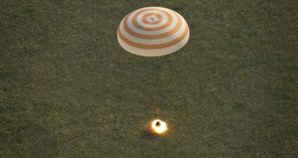 Trio of astronauts return to Earth from space station