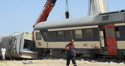 Tunisian passenger train hits truck blocking tracks, kills 18