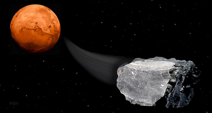 Methane discovered in Martian meteorites: A sign of life?