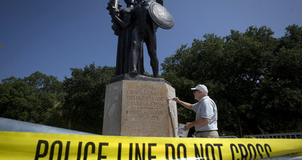 Confederate memorials splashed with 'Black Lives Matter' slogan