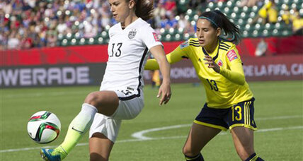 US beats Colombia 2-0, moves to quarterfinals in Women's World Cup