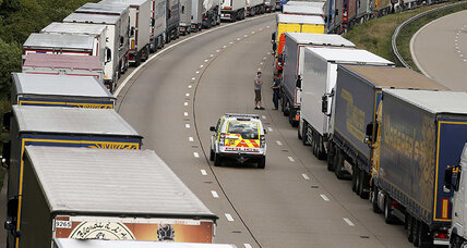 Strike halts Channel Tunnel traffic, migrants try to board vehicles