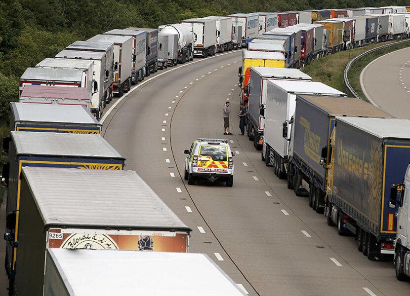 Strike Halts Channel Tunnel Traffic Migrants Try To Board Vehicles