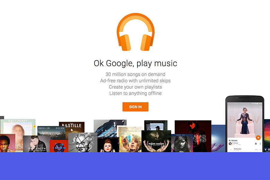 Google Play' joins crowded music streaming market - CSMonitor com