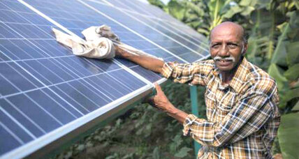 Indian farmer harvests a climate-smart crop – sunshine