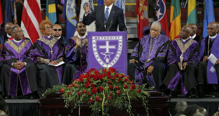 Obama honors Charleston shooting victim, pastor Clementa Pinckney