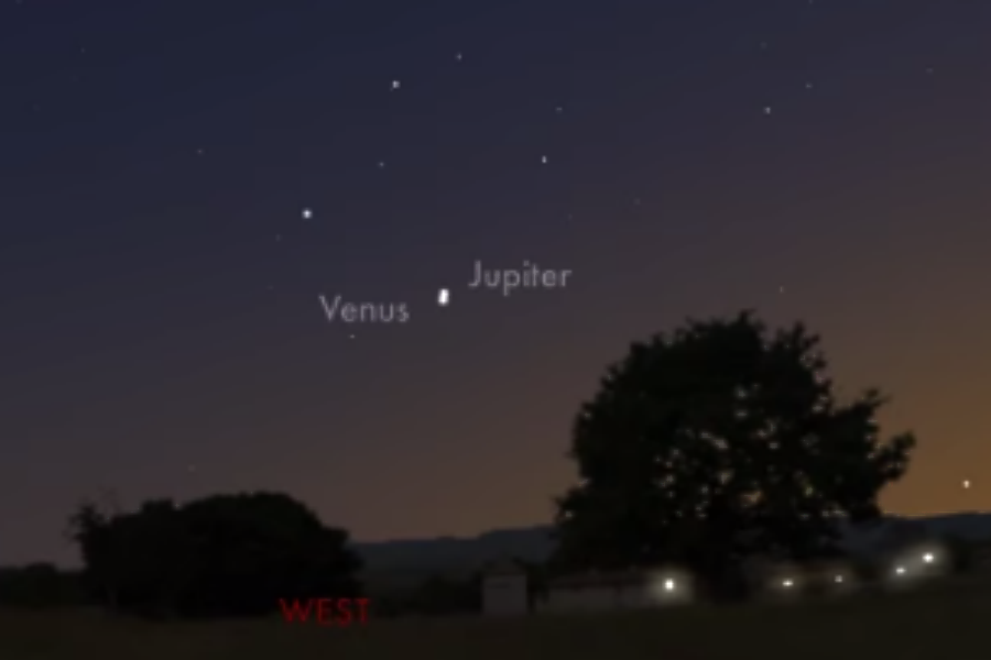 Star of Bethlehem? Jupiter and Venus converge in night sky