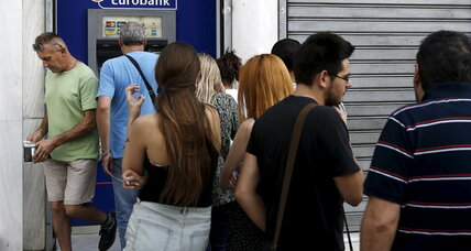 A run on the banks? It's no 'Wonderful Life' in Greece (+video)