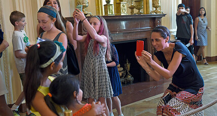 You can now take selfies, but not selfie sticks, on the White House tour
