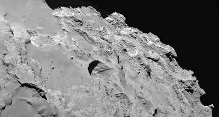 Rosetta spacecraft spies dynamic sinkholes on a comet
