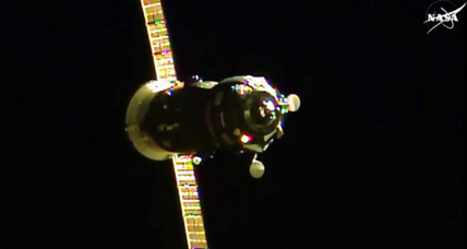 Russian cargo ship successfully docks with space station