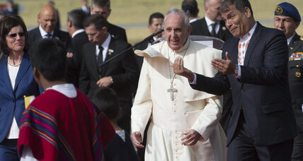 Pope Francis bears message of compassion for the weak on trip to Ecuador