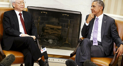 Obama and Vietnam Communist Party chief talk human rights, religious freedom