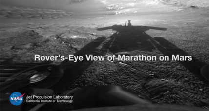 Martian marathon: Watch Opportunity rove across alien terrain