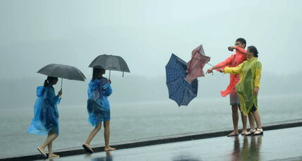 Typhoon slams China with heavy rains, forcing 1.1 million to evacuate