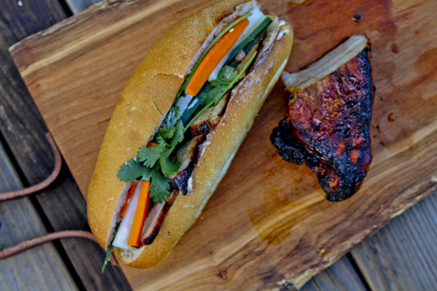 Five Spice pork for Vietnamese banh mi sandwiches