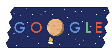 Google Doodle commemorates first Pluto flyby