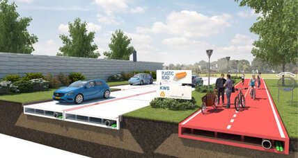 Plastic roads? Dutch company designs roads made of recycled bottles
