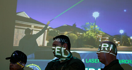 Eleven Newark flights hit by lasers Wednesday night