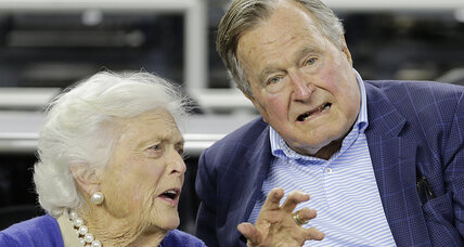Former president George H.W. Bush hospitalized after fall
