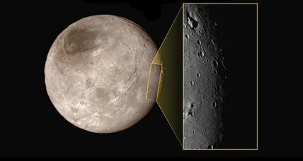 NASA flyby spies Pluto moon's mountainous moat