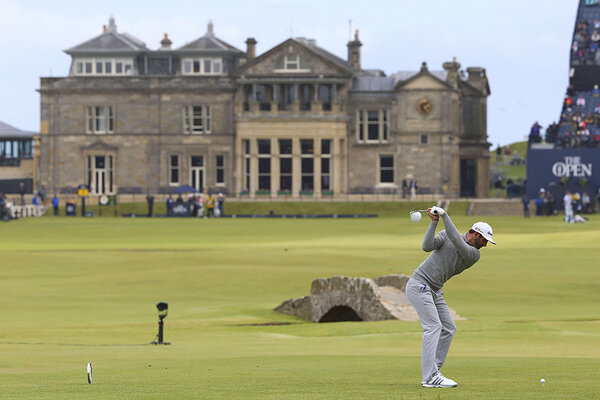 british open 2015 tv schedule  dustin johnson leads the