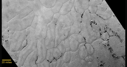 In latest close-up images of Pluto, details of big heart take center stage